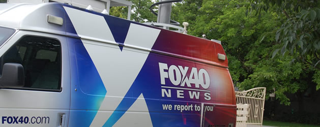 Fox40 News van